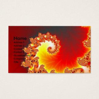 Tentáculo llameante - arte del fractal tarjeta de negocios
