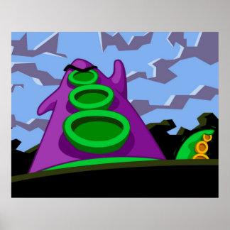 Tentáculo púrpura póster