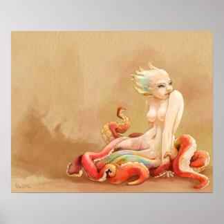 Tentáculos blandos póster