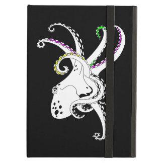 Tentáculos coloridos divertidos del pulpo blanco y