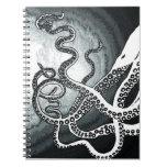 Tentáculos del pulpo libretas espirales