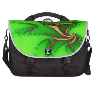 Tentáculos verdes de la alegría bolsa de ordenador