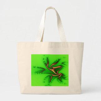 Tentáculos verdes de la alegría bolsas de mano