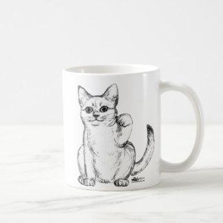 Tentar el gato Maneki Neko del gatito Taza De Café