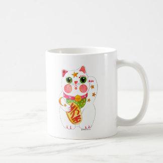 Tentar el gato Maneki Neko Tazas De Café