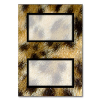 Tented Leopard Print Blank Place Card Tablecard