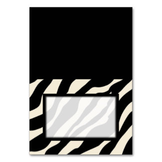 Tented Zebra Print Blank Place Card Tablecard
