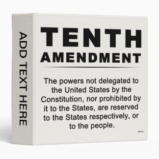 Tenth Amendment #1 Binder