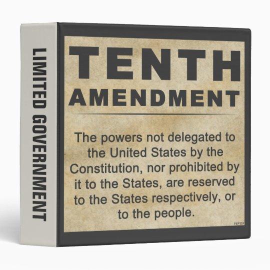 Tenth Amendment #3 Binder