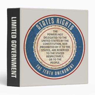 Tenth Amendment 3 Ring Binder