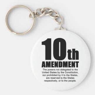 Tenth Amendment Basic Round Button Keychain