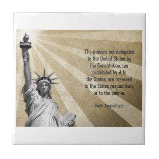 Tenth Amendment Ceramic Tile