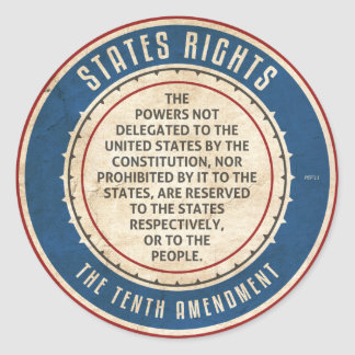 Tenth Amendment Classic Round Sticker