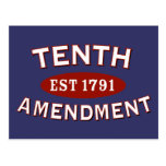 Tenth Amendment Est 1791 Post Card