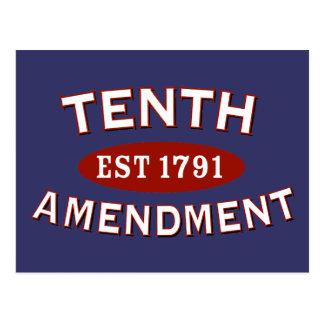Tenth Amendment Est 1791 Postcard