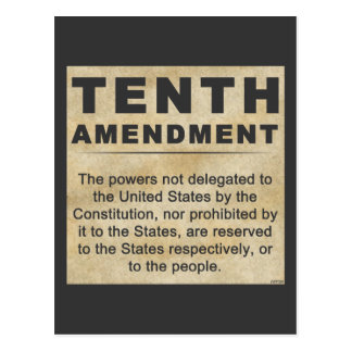 Tenth Amendment Postcard