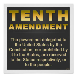 Tenth Amendment Poster