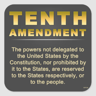 Tenth Amendment Square Sticker