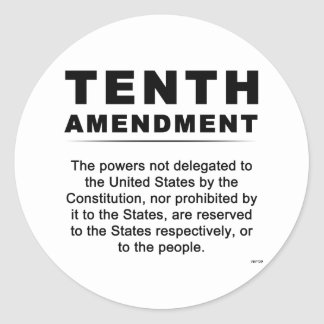 Tenth Amendment Classic Round Sticker
