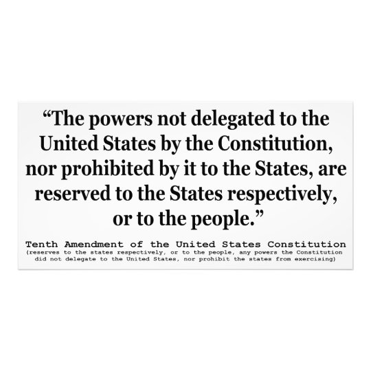 Tenth Amendment to the United States Constitution Photo Print