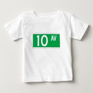 Tenth Av., New York Street Sign Baby T-Shirt