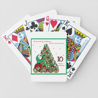 Tenth Day of Christmas Bicycle Playing Cards