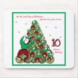 Tenth Day of Christmas Mousepad