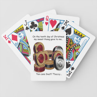 Tenth Day Redneck Christmas Bicycle Playing Cards