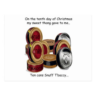 Tenth Day Redneck Christmas Postcard