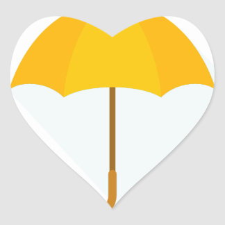Tenth February - Umbrella Day - Appreciation Day Heart Sticker