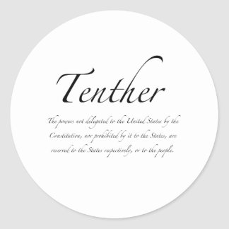 Tenther Classic Round Sticker