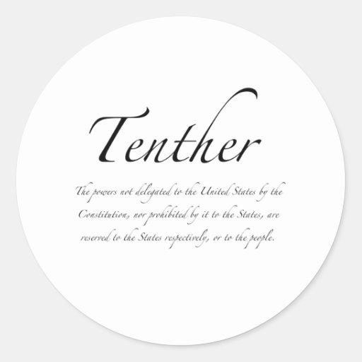 Tenther Classic Round Sticker