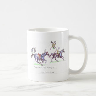 Tentpegging funny cartoon with Trooper Trevor Classic White Coffee Mug