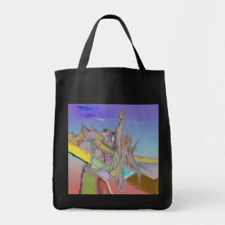 Tents Abstract Design Tote Bag