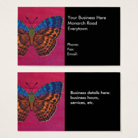 Tentyris Forester Butterfly Business Card