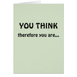 Tenure Congratulations (I Think Therefore I Am) Card
