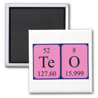 Teo periodic table name magnet