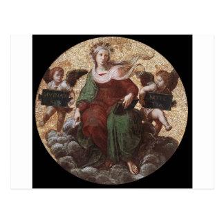 "Teología, ""de Raphael de Segnatura del della de la Tarjetas Postales"