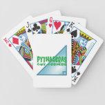 Teorema pitagórico cartas de juego