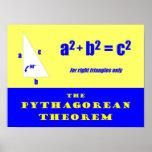 Teorema pitagórico impresiones