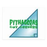 Teorema pitagórico tarjetas postales