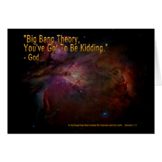 Teoría de Big Bang Tarjeta De Felicitación