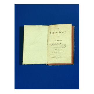 Teoría de colores, 1810 tarjeta postal
