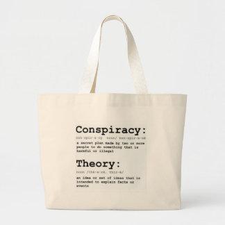 Teoría de conspiración bolsa de tela grande