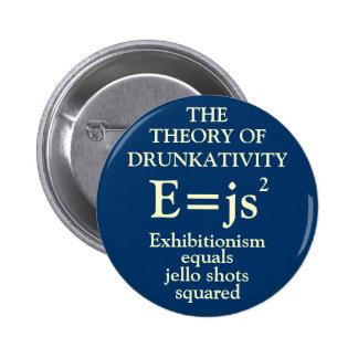 Teoría de Drunkativity Pin Redondo De 2 Pulgadas