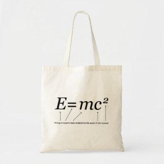 Teoría de E=MC2 Einstein de la relatividad Bolsa Tela Barata
