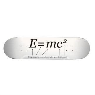 Teoría de E=MC2 Einstein de la relatividad Patin