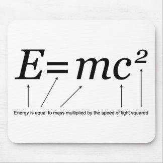 Teoría de E MC2 Einstein de la relatividad Alfombrilla De Raton