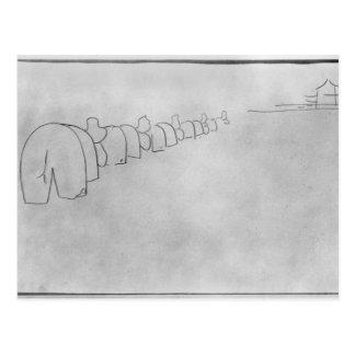 Teoría de elefantes, 1896 postal