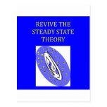 teoría de estado estacionario tarjeta postal